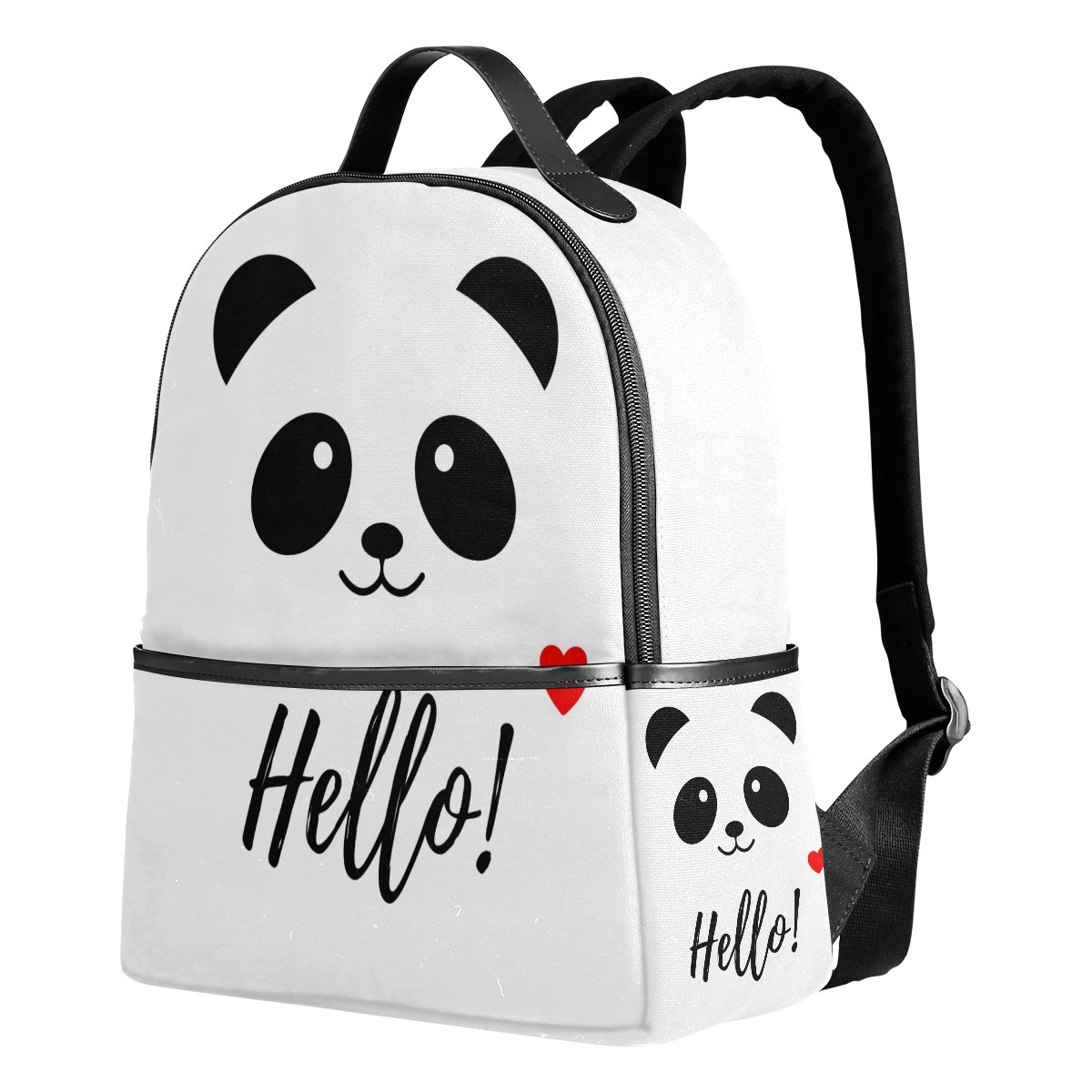 Use4 Hello Panda Love Heart Polyester Backpack School Travel Bag by ALAZA (Image #1)