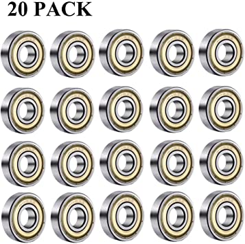 20 Stück Kugellager 608 ZZ Innen  8 mm  Außen  22 mm  Breite 7 mm