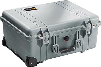 Pelican 1560 Camera Case With Foam Renewed Silver
