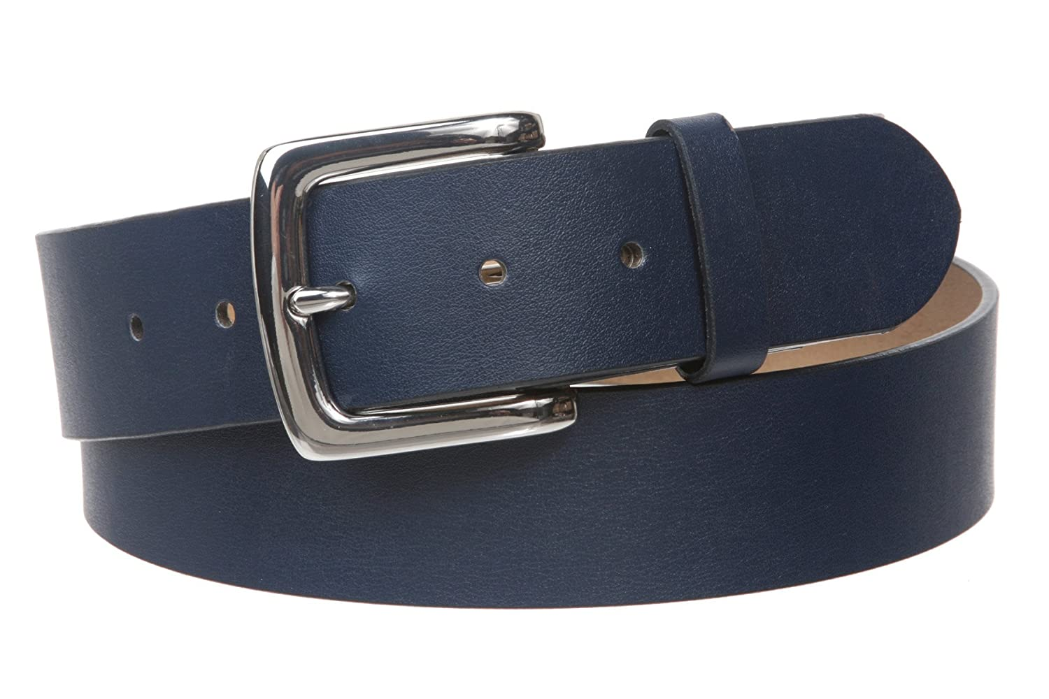 1 1/2 (38mm) Square Nickel Free Snap On Plain Non-Leather Jean Belt, Black | M/L - 34~36 Beltiscool 803801:0101:A005