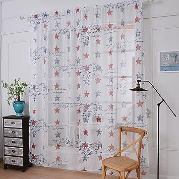 1er HongYa Stern Muster Gadine Kinder Schlafzimmer Vorhang aus ...