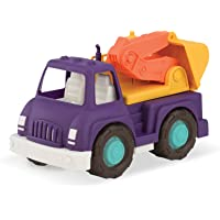 Wonder Wheels by Battat – Toy Excavator Truck – Digger Truck with Moveable Digging Arm, Bucket, Cab – Construction Toy…