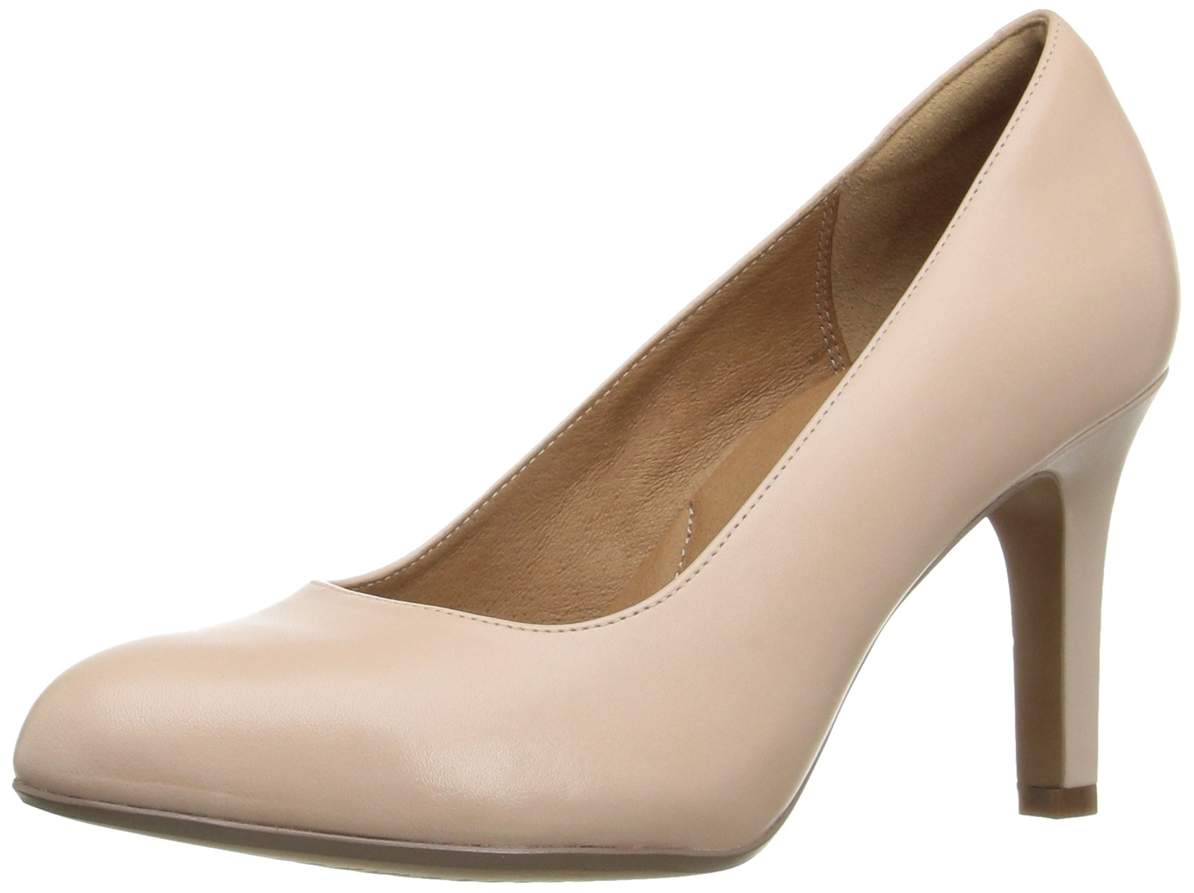 Clarks Women's Heavenly Star Dress Pump, Nude Leather, 9 M US