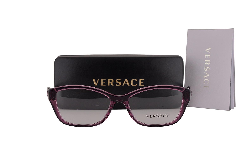 Versace VE3236 Eyeglasses 52-16-140 Transparent Violet w/Demo Clear Lens 5220 VE 3236