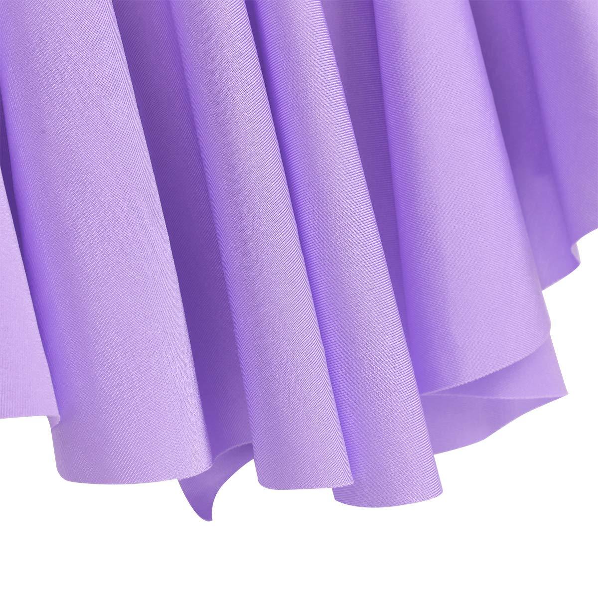 iEFiEL Vestito da Balletto Bambina Ragazze Leotard Body Dancewear Ginnastica Danza Classica Senza Manica Abbigliamento Gonna Allenamento Ballo Elegante 4-14 Anni