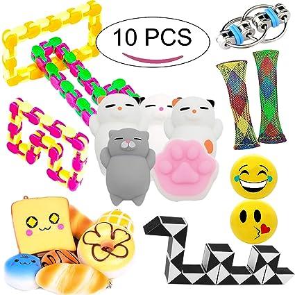 Leeche Fidget Toys 7 Varieties Bundles For Kids Sensory Toys Kit 10