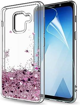 LeYi Compatible con Funda Samsung Galaxy A8 2018 Silicona ...