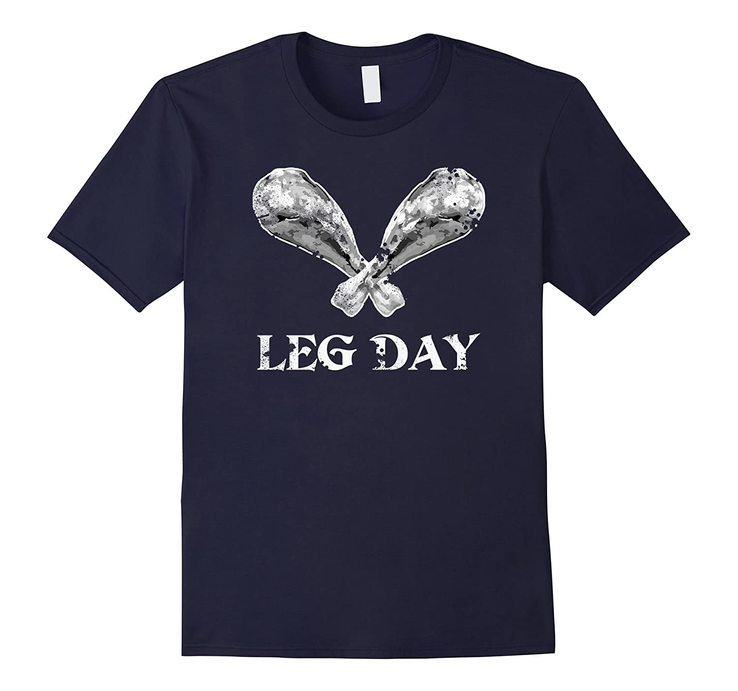 Funny Thanksgiving Turkey Exercise Leg Day T-Shirt | Vintage-ANZ