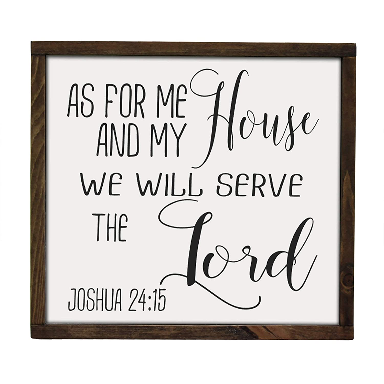 As For Me and My House We Will Serve the Lord Joshua 24:15 Bible Verse Farmhouse Sign Stained Wood Sign