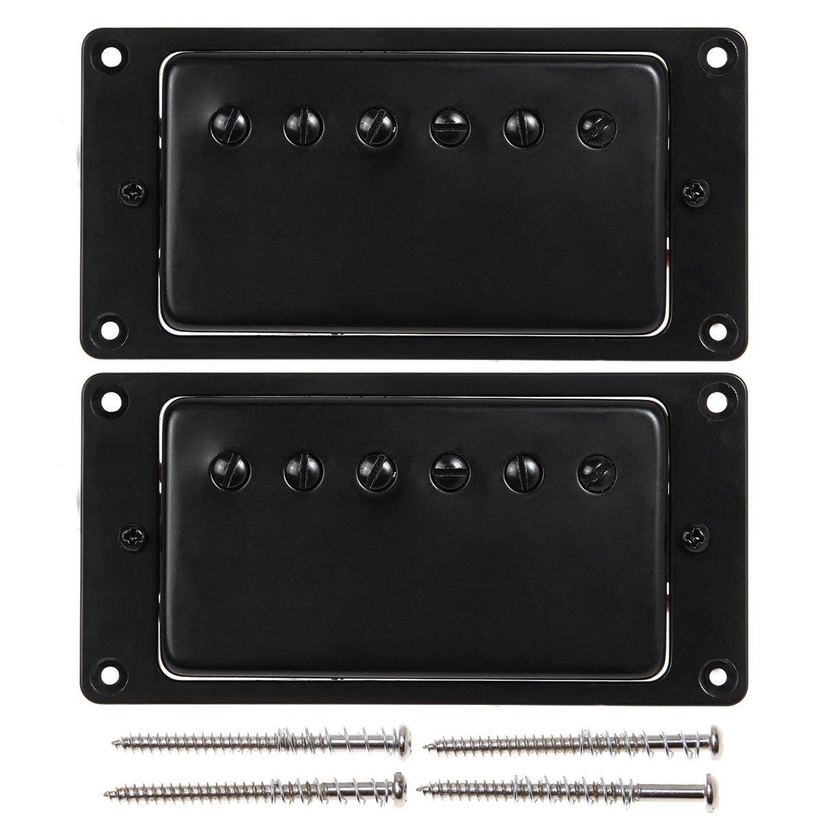 Kmise MI0338 Humbucker Pickup Set for Gibson Style Guitar Parts, Black