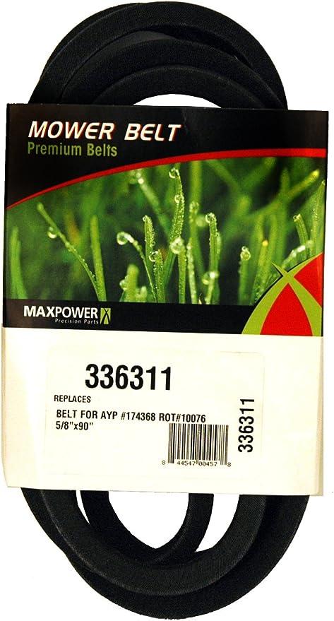 Amazon.com: Maxpower 48 en. Primaria Deck Cinturón, Negro ...