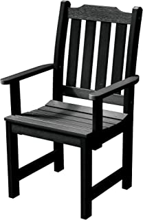 product image for Highwood AD-CHDL2-BKE Lehigh Dining Armchair, Black