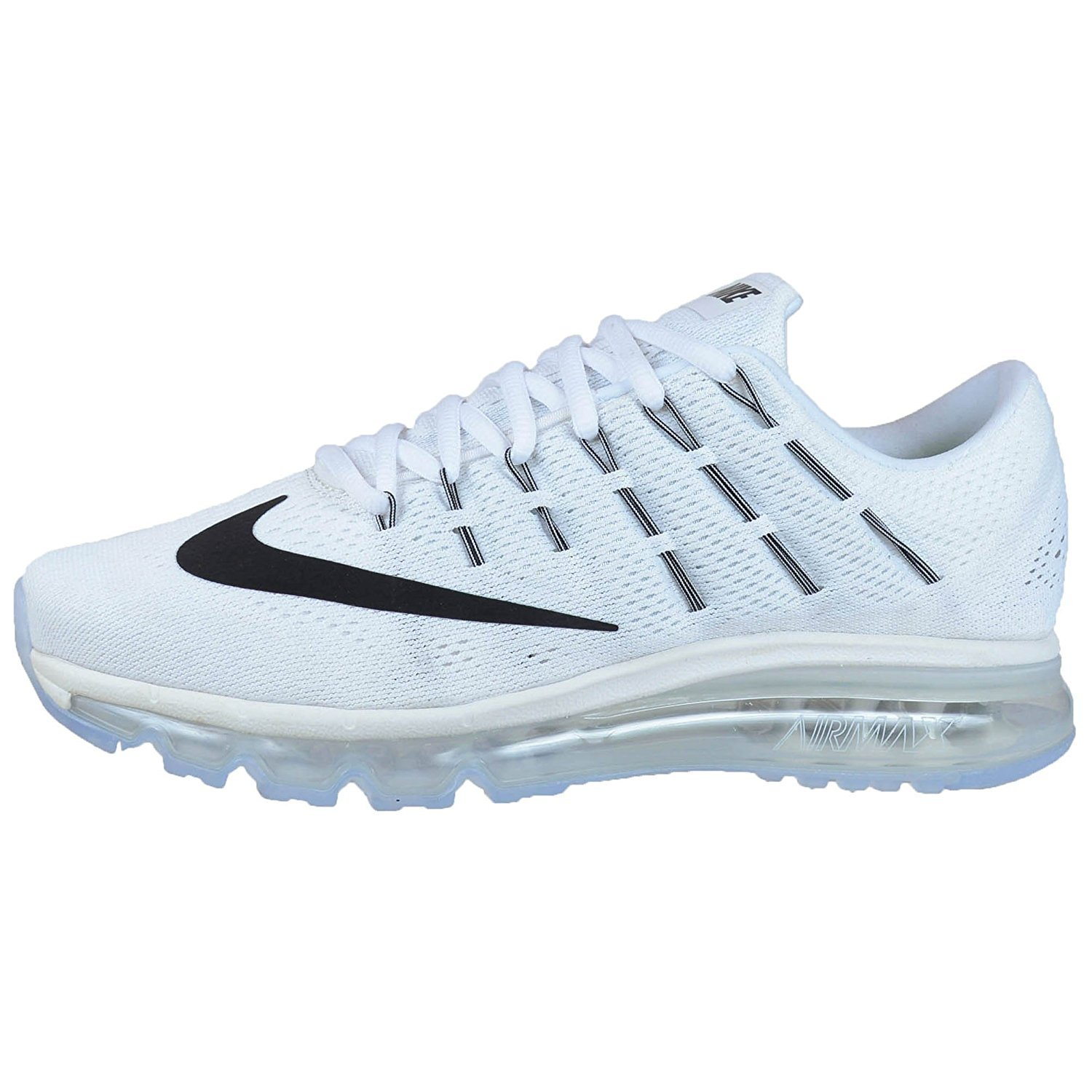 promo code 00a67 ba429 Amazon.com   Nike Womens Air Max 2016 Summit White White Black Mesh Running  Shoes 8.5 M US   Road Running