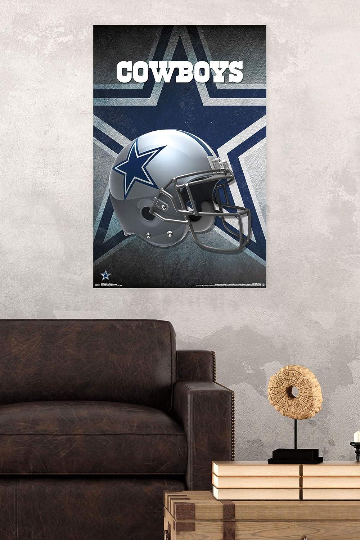 Poster /& Clip Bundle Trends International Dallas Cowboys-Helmet Clip Wall Poster 22.375 x 34
