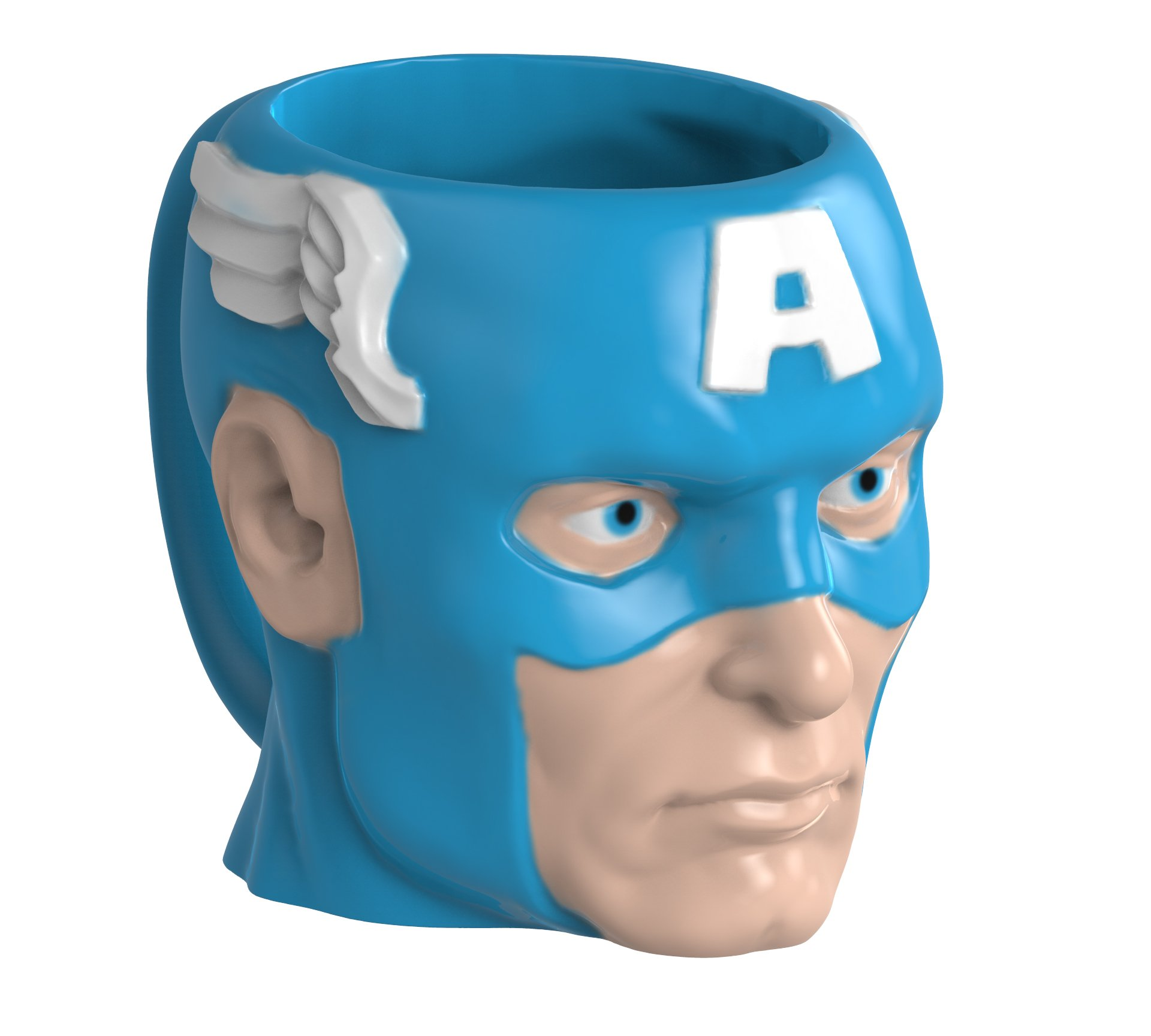 Zak Designs MRTI-8513 Marvel Comics Sculpted Ceramic Coffee Cup, Captain America by Zak Designs (Image #2)