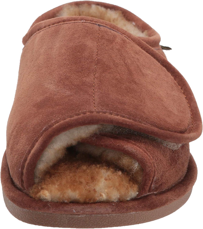 US,Tan Old Friend Mens Adjustable Strap Slipper,11 D M