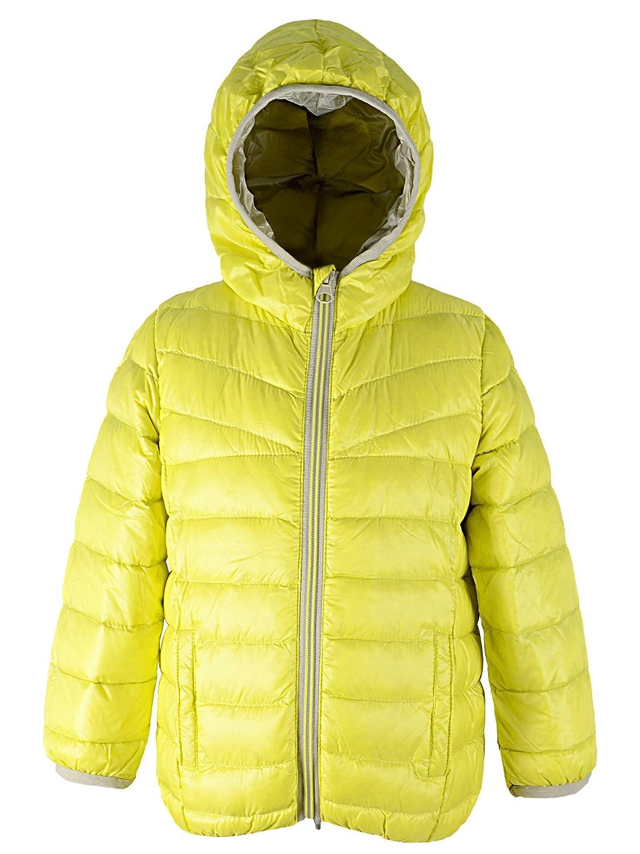 Girls Kid Children Duck Down Jacket Colorblock Kids Packable Quilted Hoodie Coat American Trends ATACBS1951C0000