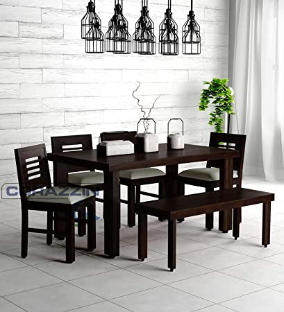 Corazzin Wood Sheesham Wood Dining Table 6 Seater Wooden Dining