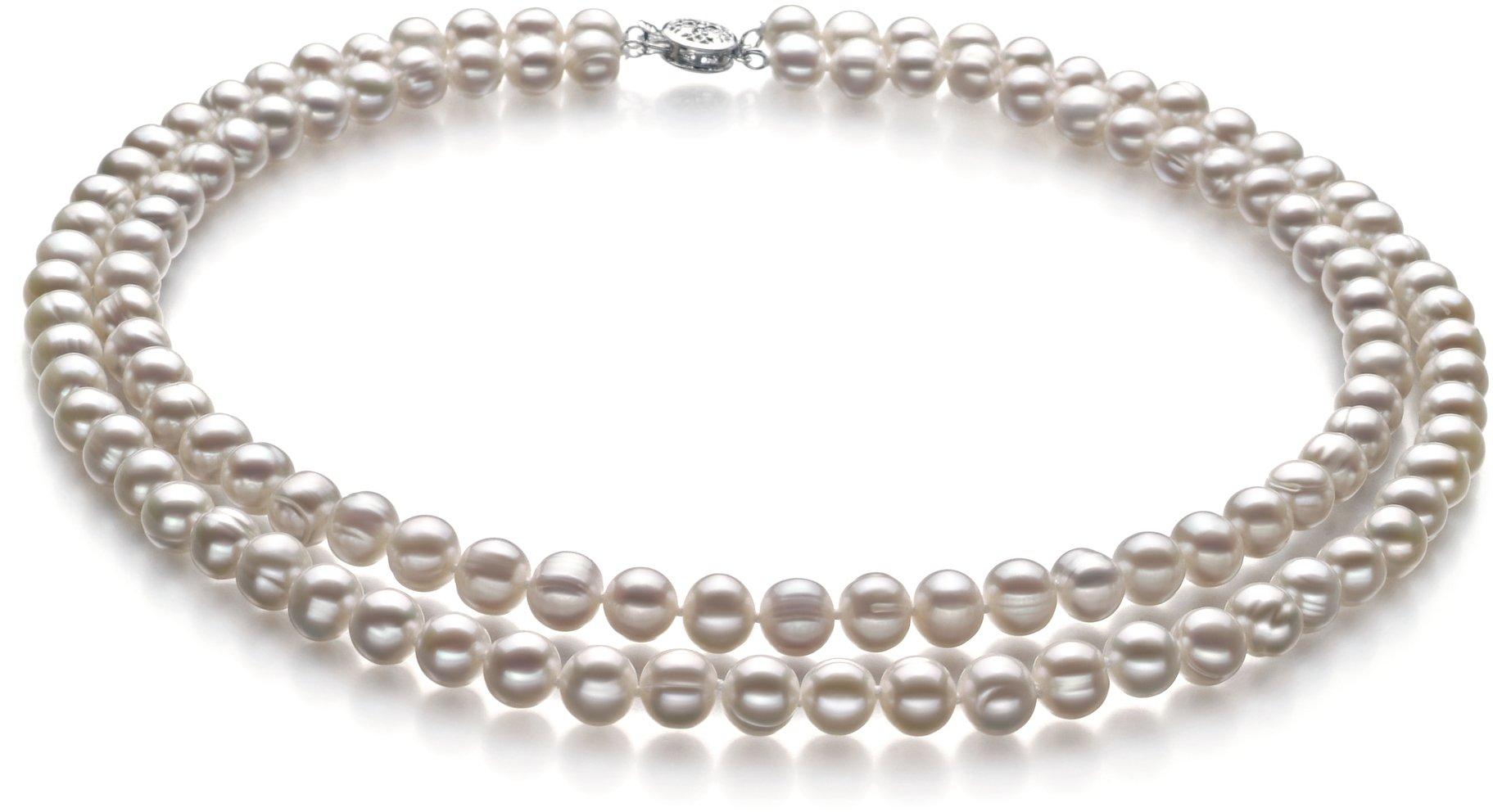 PearlsOnly - White 6-7mm A Quality Freshwater Cultured Pearl Set-16 in Chocker length by PearlsOnly (Image #2)