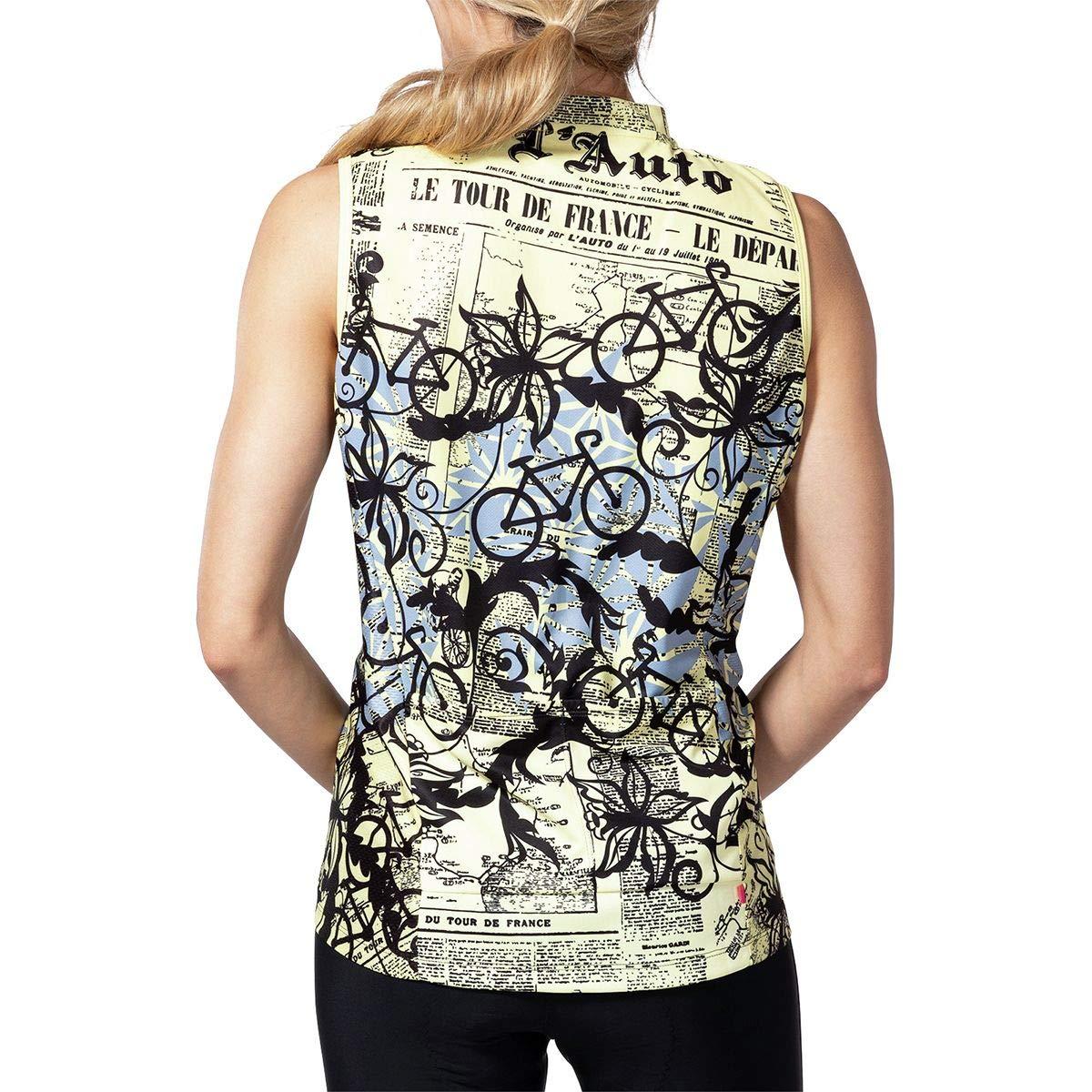 XL Terry Bicycles Breakaway Sleeveless Mesh Jersey Womens Newsprint