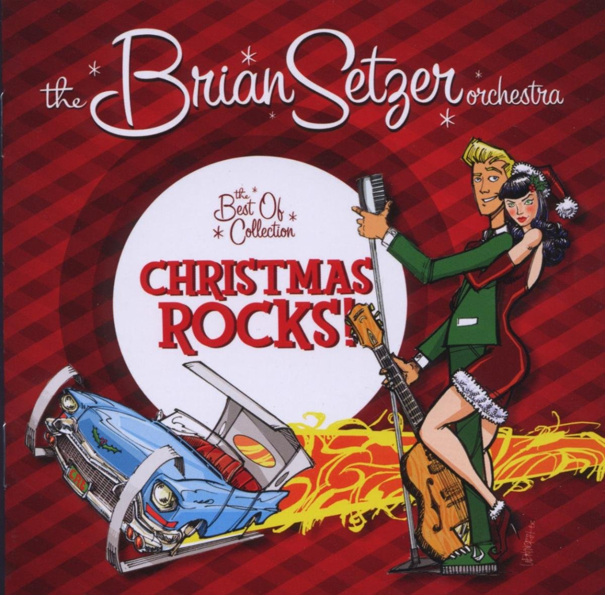 brian setzer orchestra christmas rocks the best of collection amazoncom music - Christmas Cd