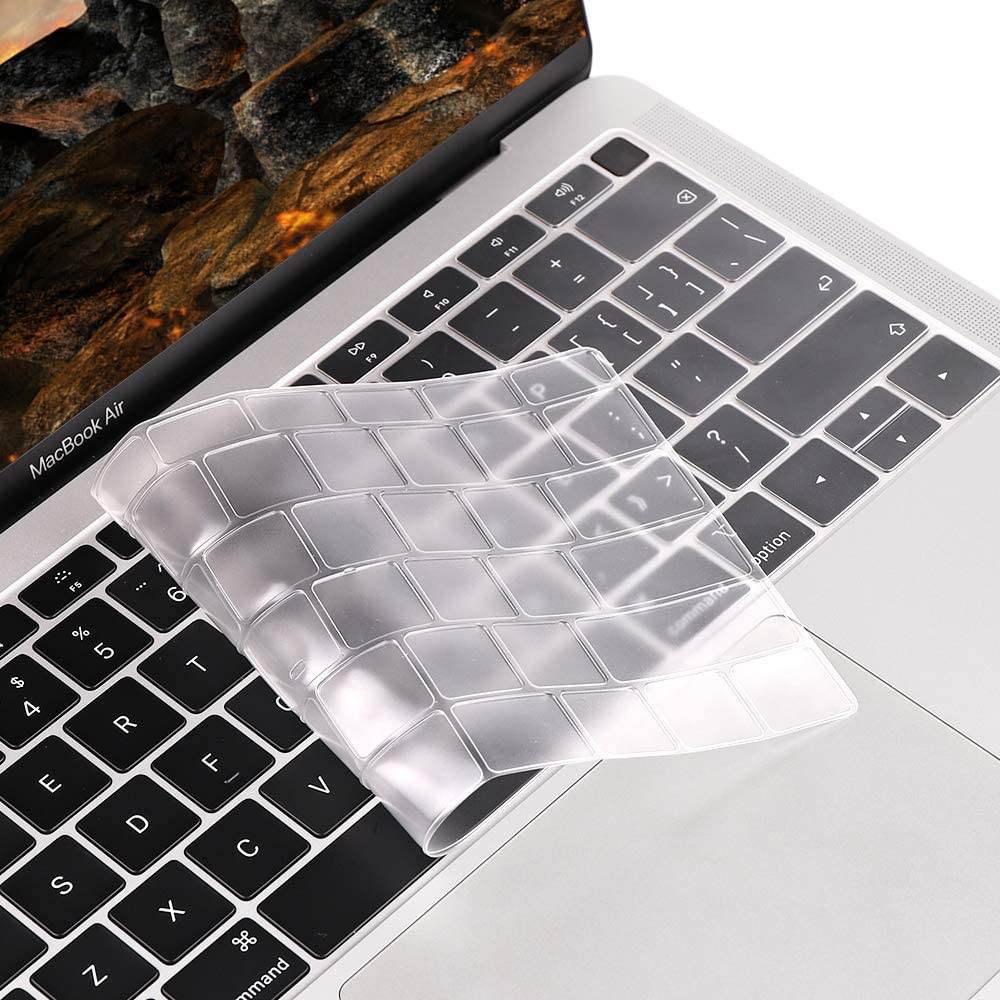 [Special Models] Keyboard Cover Skin Protector Compatible for MacBook Air 13 inch A1932 Model ONLY Laptops Released (US ANSI) KB825 - TPU Clear