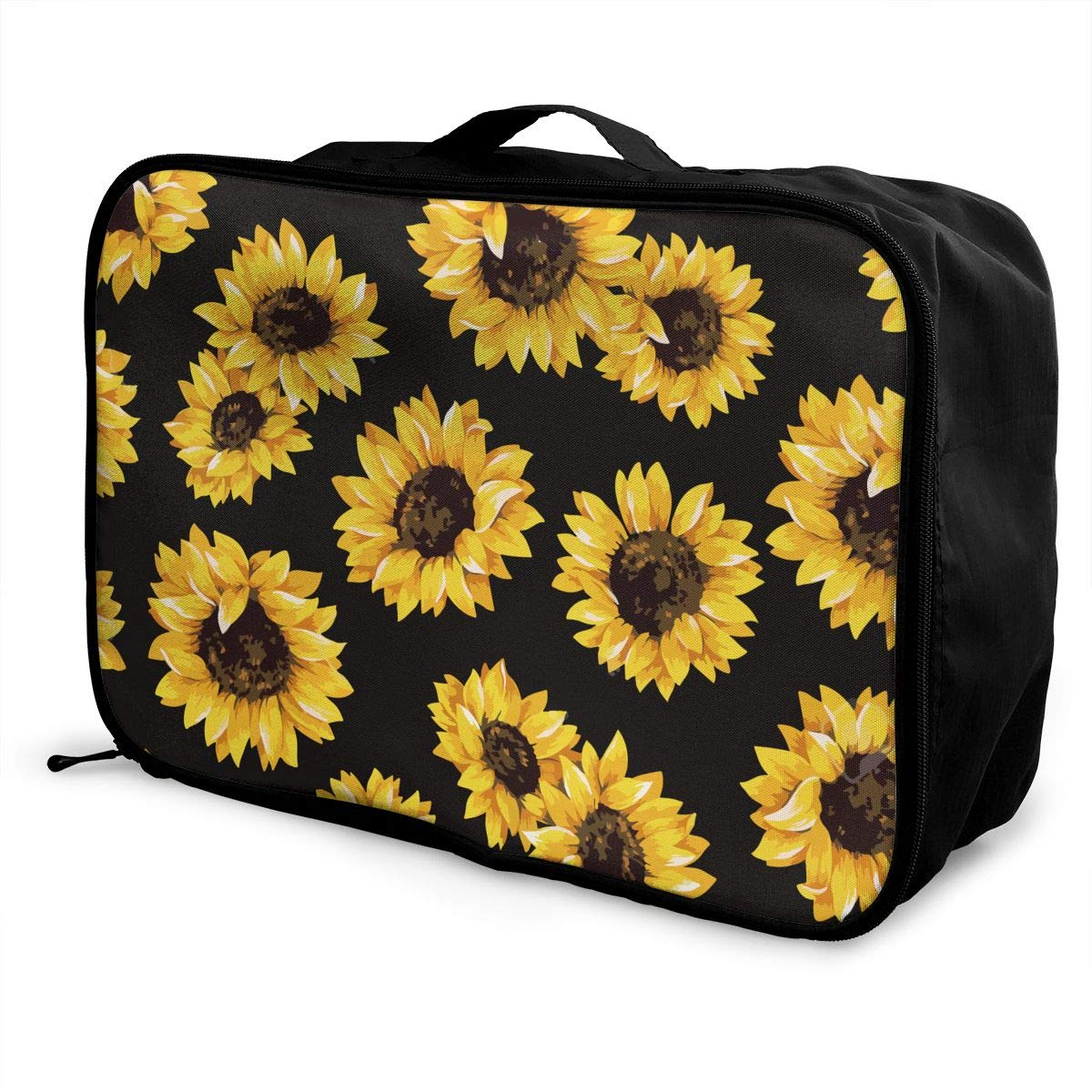 YueLJB Sunflowers Lightweight Large Capacity Portable Luggage Bag Travel Duffel Bag Storage Carry Luggage Duffle Tote Bag