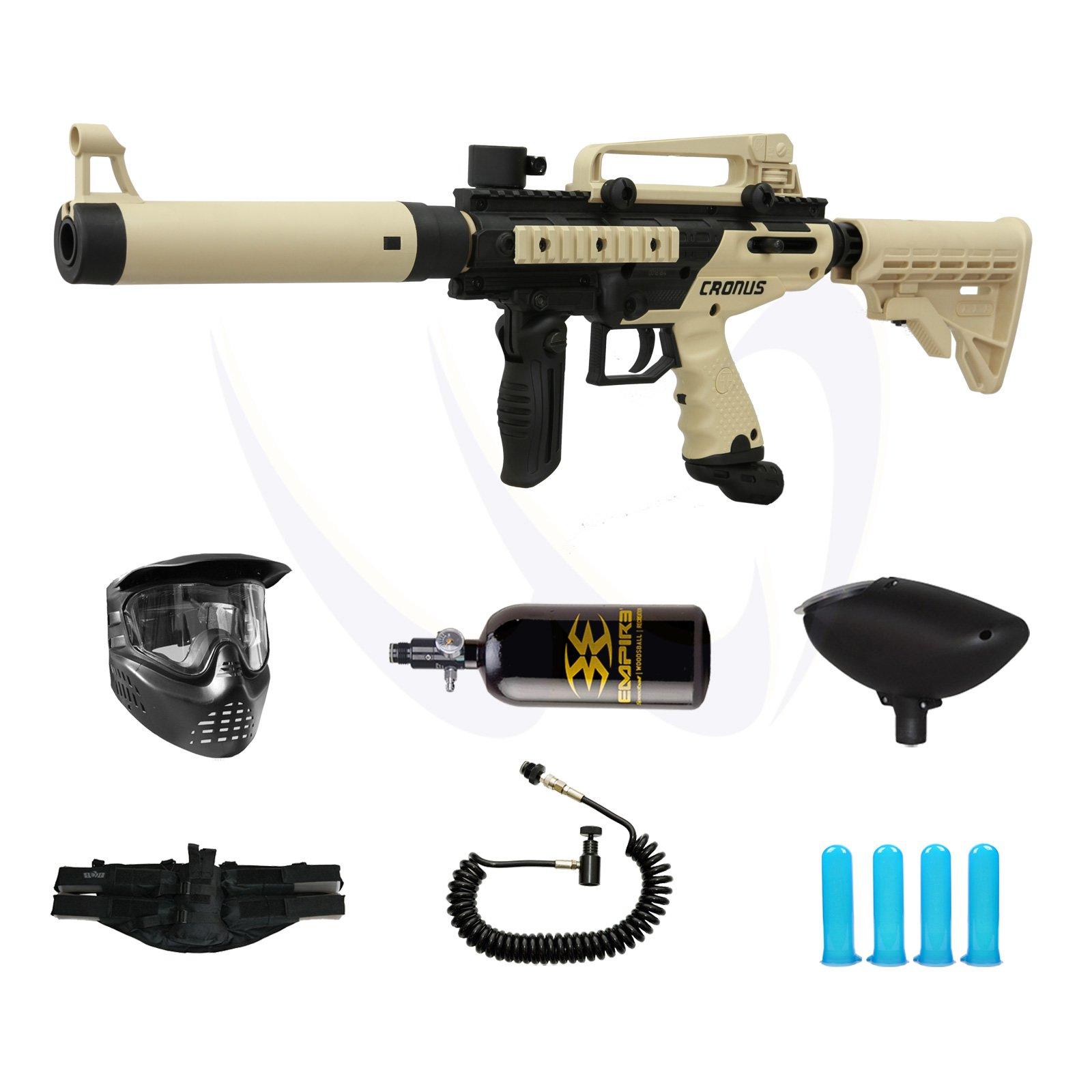 Tippmann Cronus Tactical - Tan - M-F Paintball Gun Prime N2 Pack