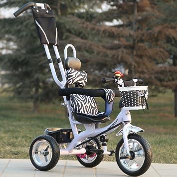 QXMEI Triciclo para Niños Multifunción 1-6 Bebé Bicicleta para Bebés Carrito para Bebés Bicicleta,White: Amazon.es: Hogar