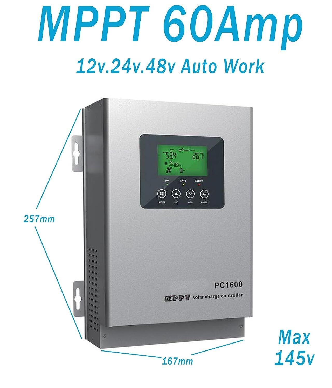 Regler Solar Solar Autoswitch Solar Panel Controller 60A 12V24V48V MPPT