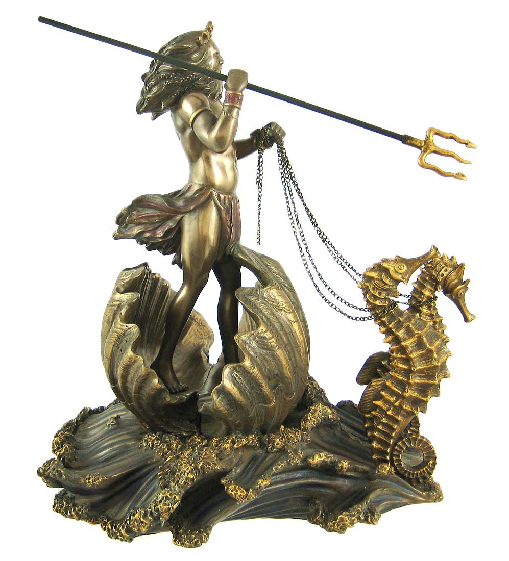 greek god of the sea poseidon with trident on seahorse chariot 9 3