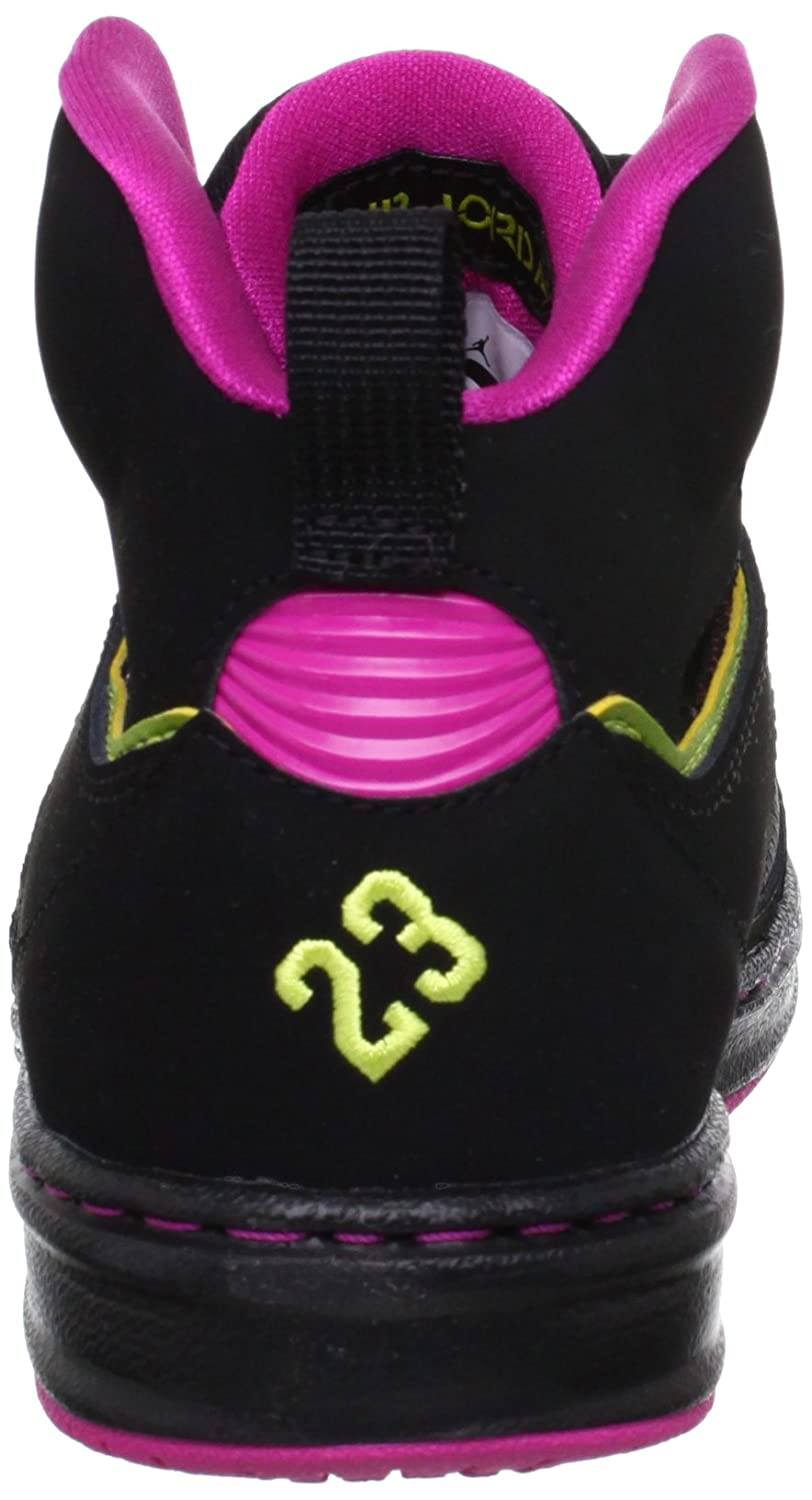 new arrival 5b78b 764e6 Amazon.com   Jordan Big Kid Girls Sixty Club (GS) Sneakers 555364 Sz 6.5Y  Black Pink Yellow   Sneakers
