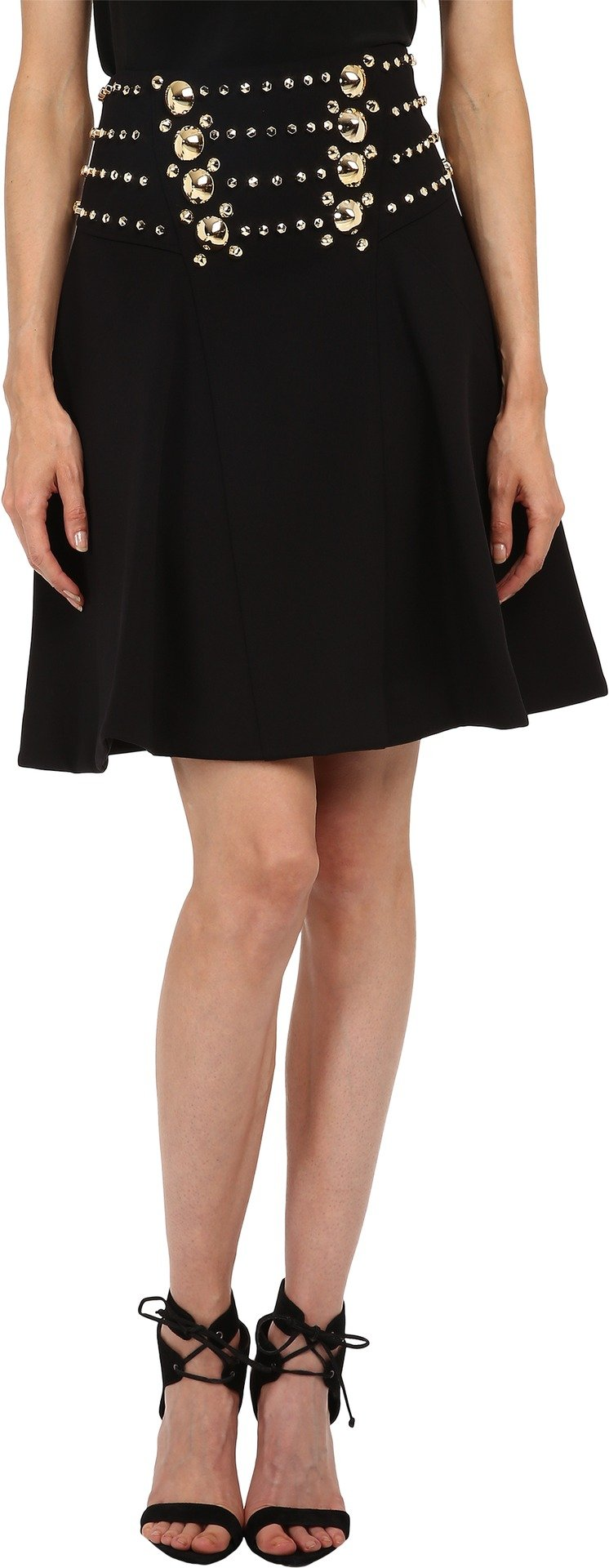 Versace Collection Women's Embellished Skirt Nero 48 (US 12)