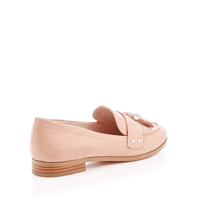 c551ebbb3 Debenhams Faith Womens Natural Suedette Tassel 'Amore' Flat Loafers 7  Cream: Amazon.co.uk: Shoes & Bags