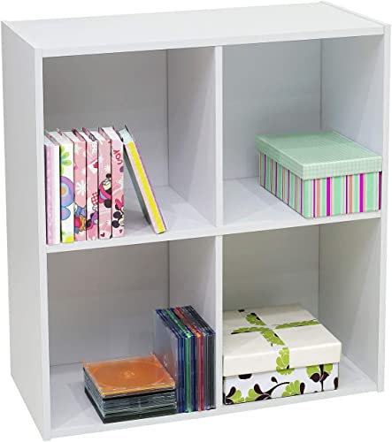 Editors' Choice: White Wood 4 Cube Organizer Storage Unit Bookcase Organizer