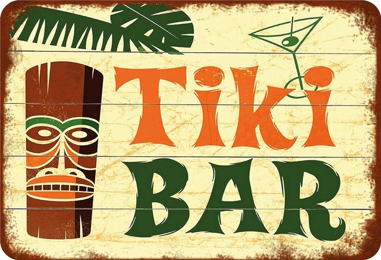 BlechschilderWelt Plaque en t/ôle Tiki Bar Hawaii