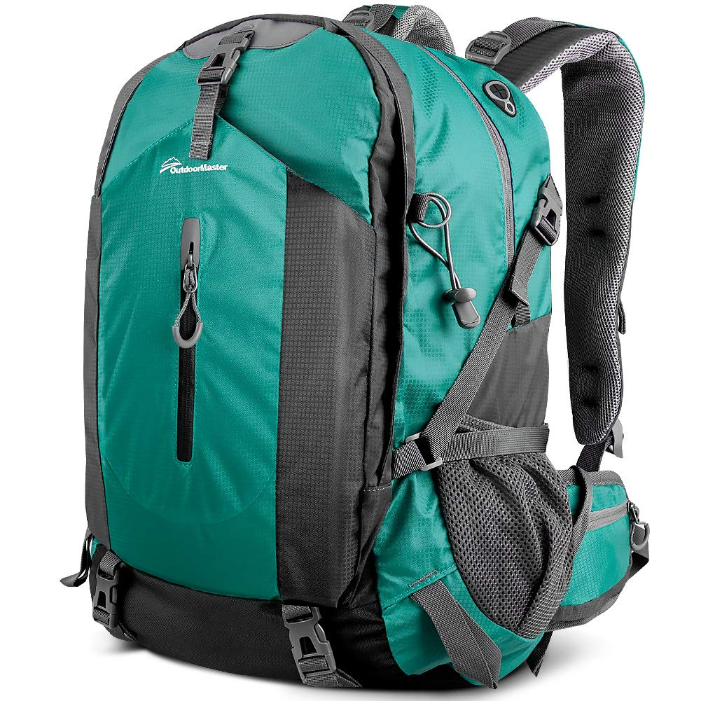OutdoorMaster Hiking Backpack 50L - Hiking & Travel Carry-On Backpack w/Waterproof Rain Cover - for Hiking, Traveling & Camping - Light Green by OutdoorMaster