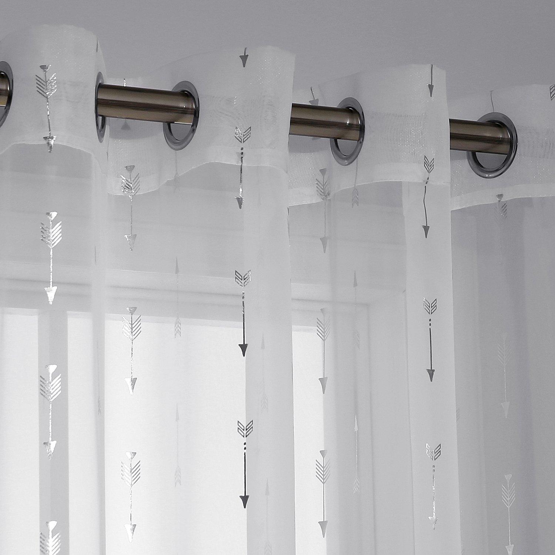 dise/ño de Flecha 180 x 140 cm Color Blanco 2 Unidades 180x140 Tela Deconovo Cortinas Infantiles con Ojales