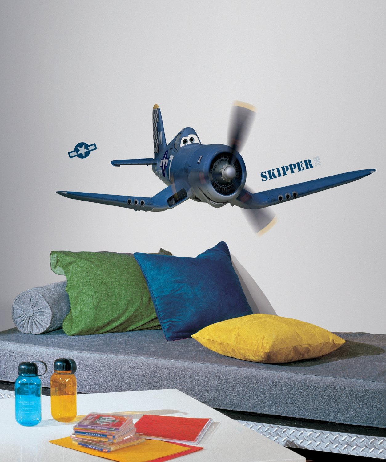 Amazon.com: Roommates Rmk2306Gm Planes Skipper Riley Peel And Stick Giant Wall  Decals, 1 Pack: Home Improvement Part 24