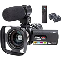 Camcorder Video Camera YEEHAO WiFi HD 1080P 24MP 16X Powerful Digital Zoom Camera with Microphone and Wide Angle Lens…