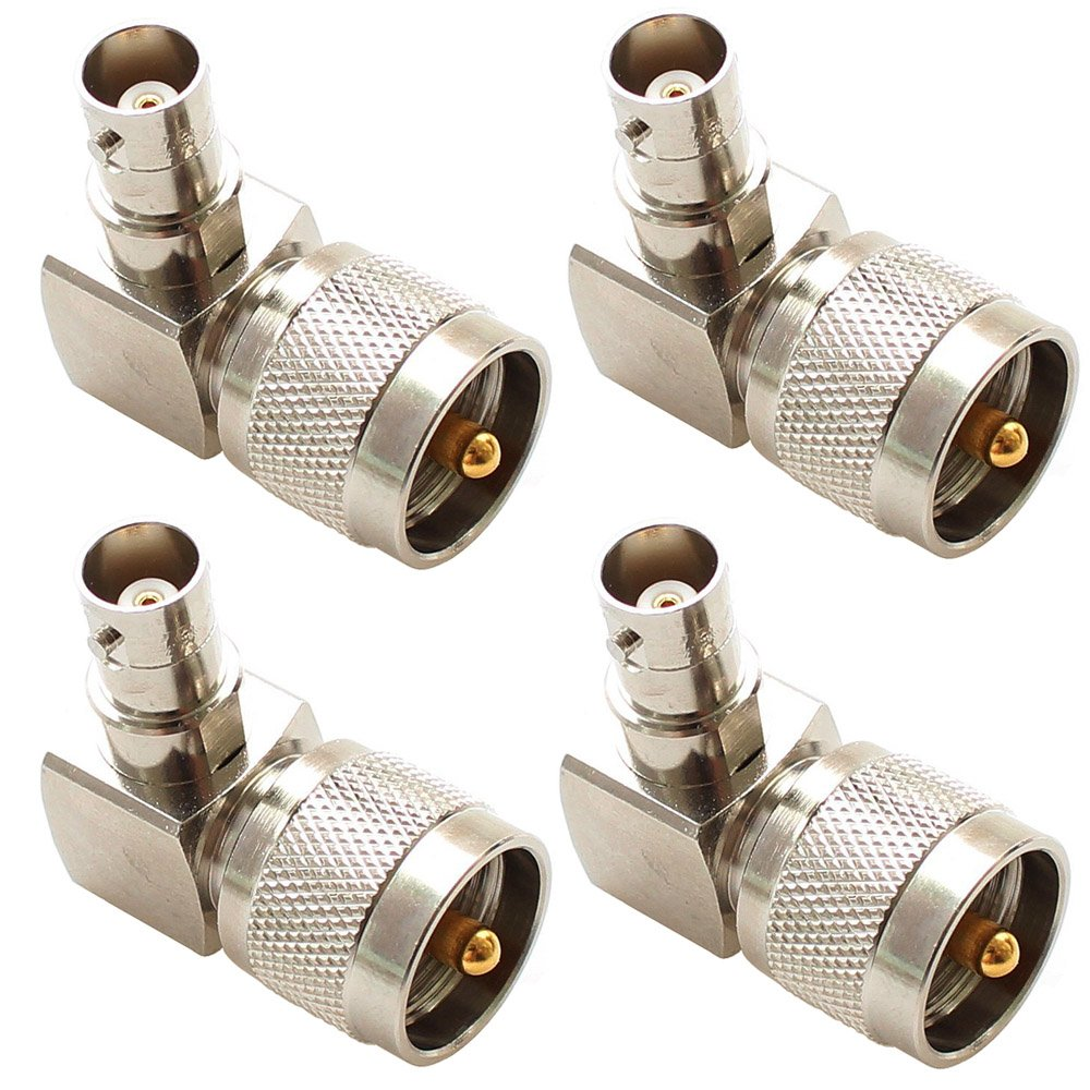 Yowming 5pcs BNC Male Plug to UHF Female SO239 SO-239 Jack RF Coaxial Adapter Connector
