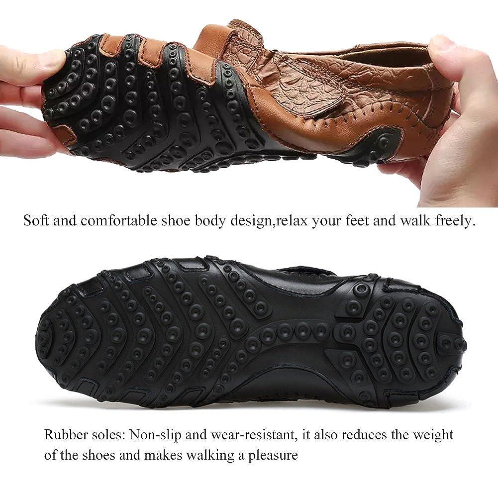 Homme Mocassins Classic Cuir Chaussures Ville Saison d/ét/é Casual Antid/érapant Antichoc Loafers