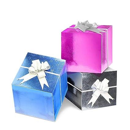 ¡Bambelaa! cajas de regalo decorativas para decoración de Navidad, acción de gracias,