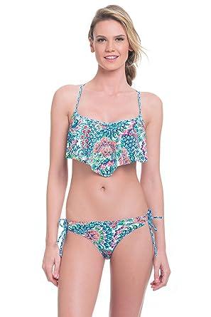Profile Blush By Gottex Womens Peacock Flutter Bikini Top Multi Medium D Cup
