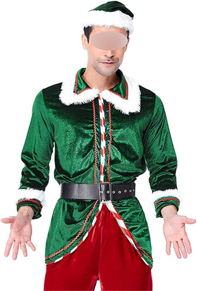 Disfraz de Papá Noel con árbol de Navidad Verde para Hombre y ...