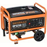 Generac 5724 GP3250 3,750 Watt 206cc OHV Portable Gas Powered Generator (Discontinued Manufacturer)