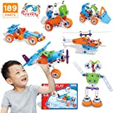 STEM Toys, 189Pcs Creative STEM Learning Building Blocks Kit   Fun Educational Construction Engineering Toys for Boys Girls 4 5 6 7 8 9 10+ Years Old   Best Birthday for Kids
