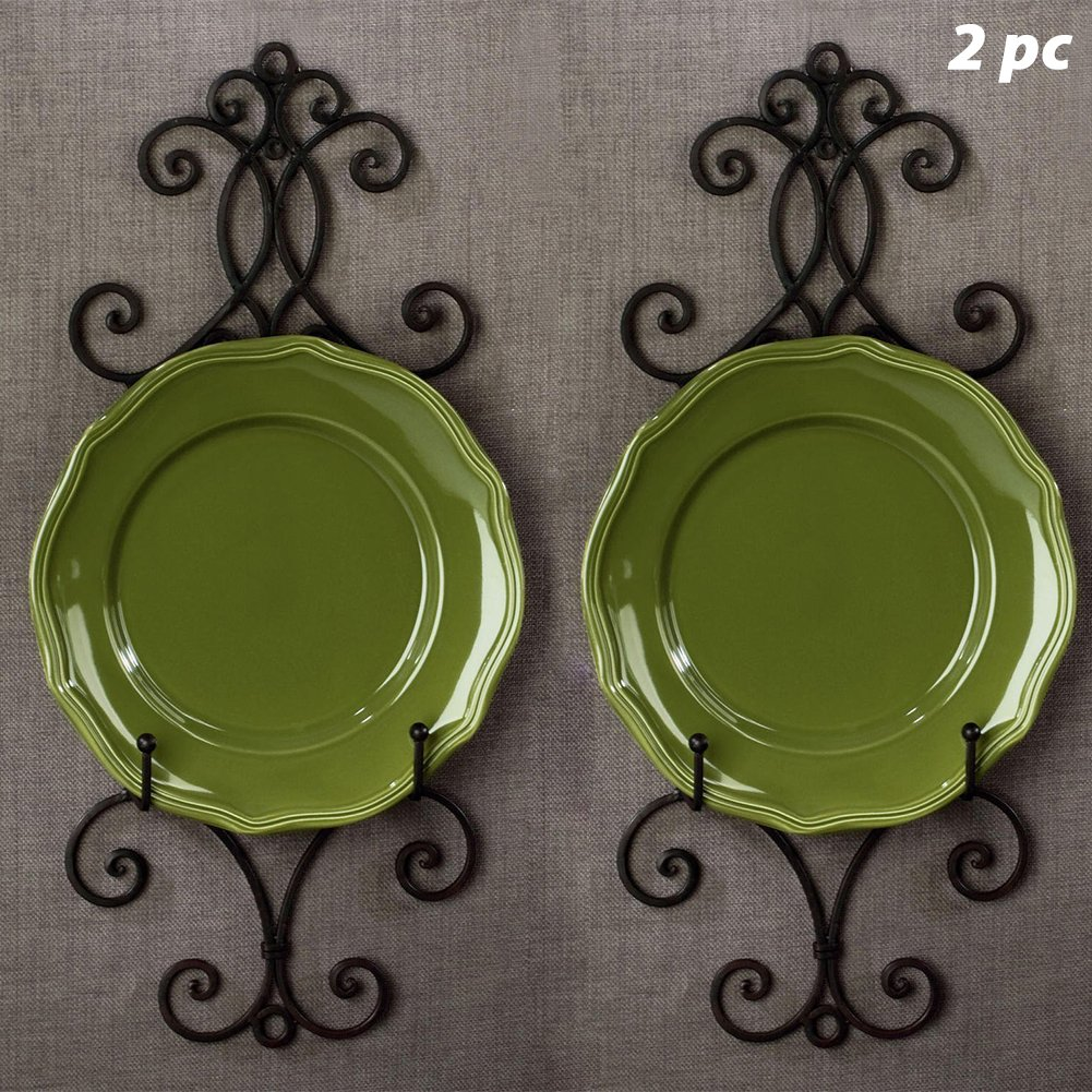 2PC Chelsea Collection Wall Rack for Plates and Artwork 22.25''H (2 Pack)
