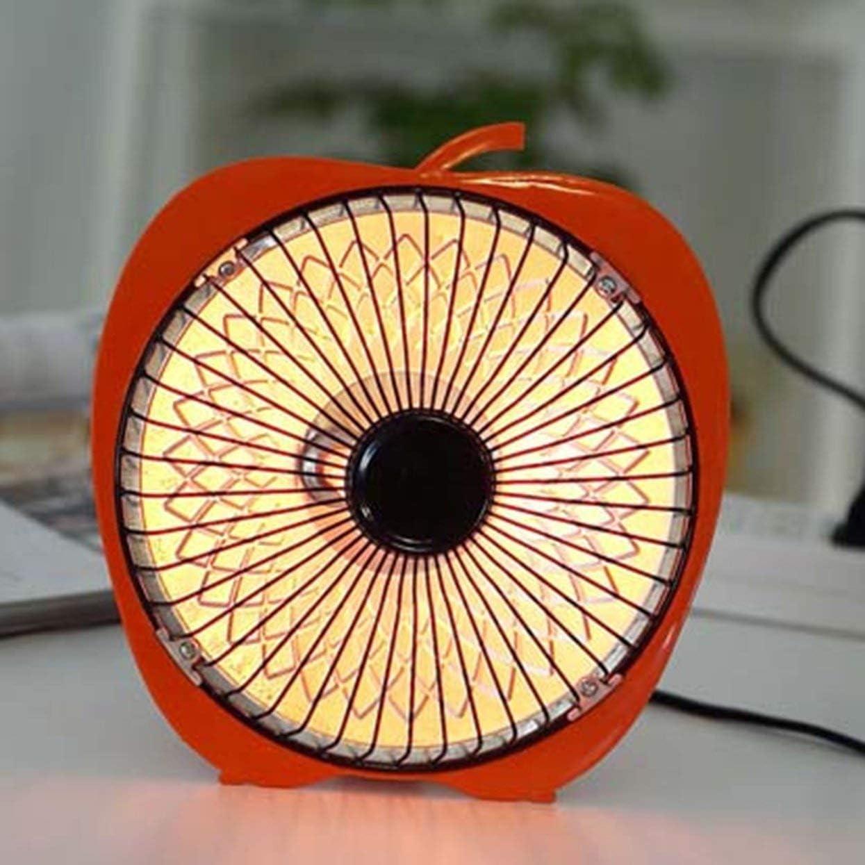 Hiver Mini solaire cr/éatif 6 pouces Cartoon radiateur /électrique bureau bureau chauffage petit ventilateur de chauffage orange