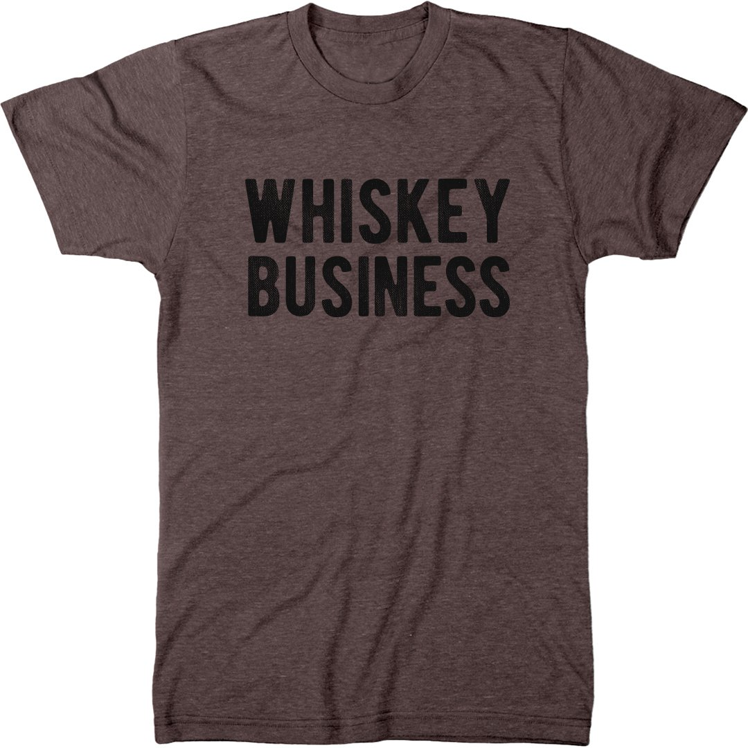 Whiskey Business Men's Modern Fit Tri-Blend T-Shirt (Macchiato, Large) by Trunk Candy (Image #1)
